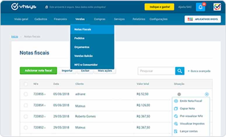 Emita notas fiscais (NF-e) na sua loja virtual