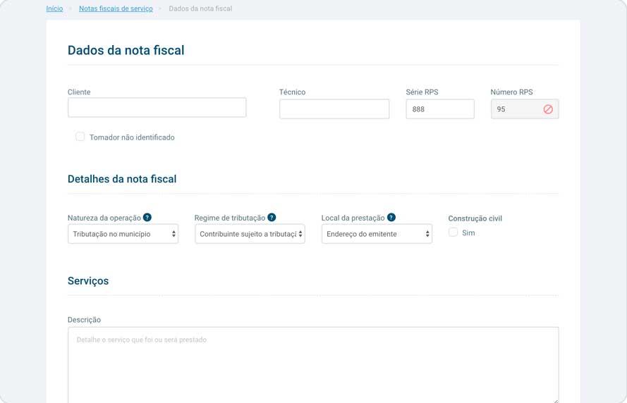 Emissão de Notas Fiscais de Serviço para Oficina Mecânica