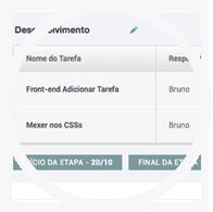 O aplicativo de Gestão de Projetos conta com uma interface totalmente intuitiva!