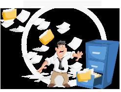 Além de não serem práticas, estas folhas de papel tornam a consulta de informações uma aventura.