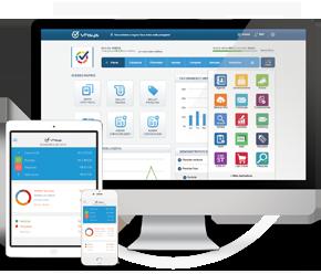 VHSYS é um sistema totalmente online com acesso feito pela nuvem e possui uma completa loja de aplicativos.