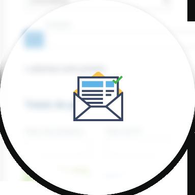 Imprima a carta de correção ou envie por e-mail
