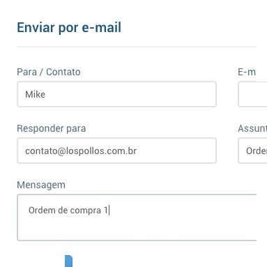 Envio de ordens de compra por e-mail