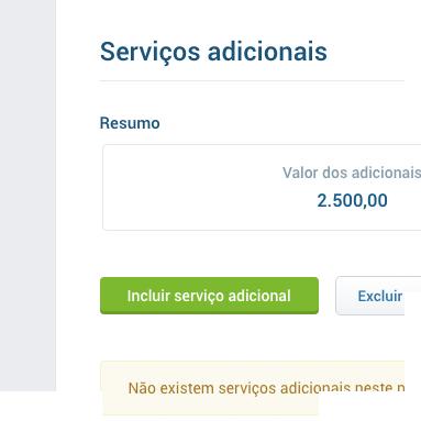 Insira serviços adicionais