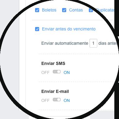 Envie Cobranças por e-mail