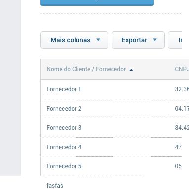Relatório de clientes e fornecedores
